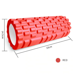 Textured Firm Foam Roller  Massages Deep into Muscles for Instant Tension Release and Pain Relief