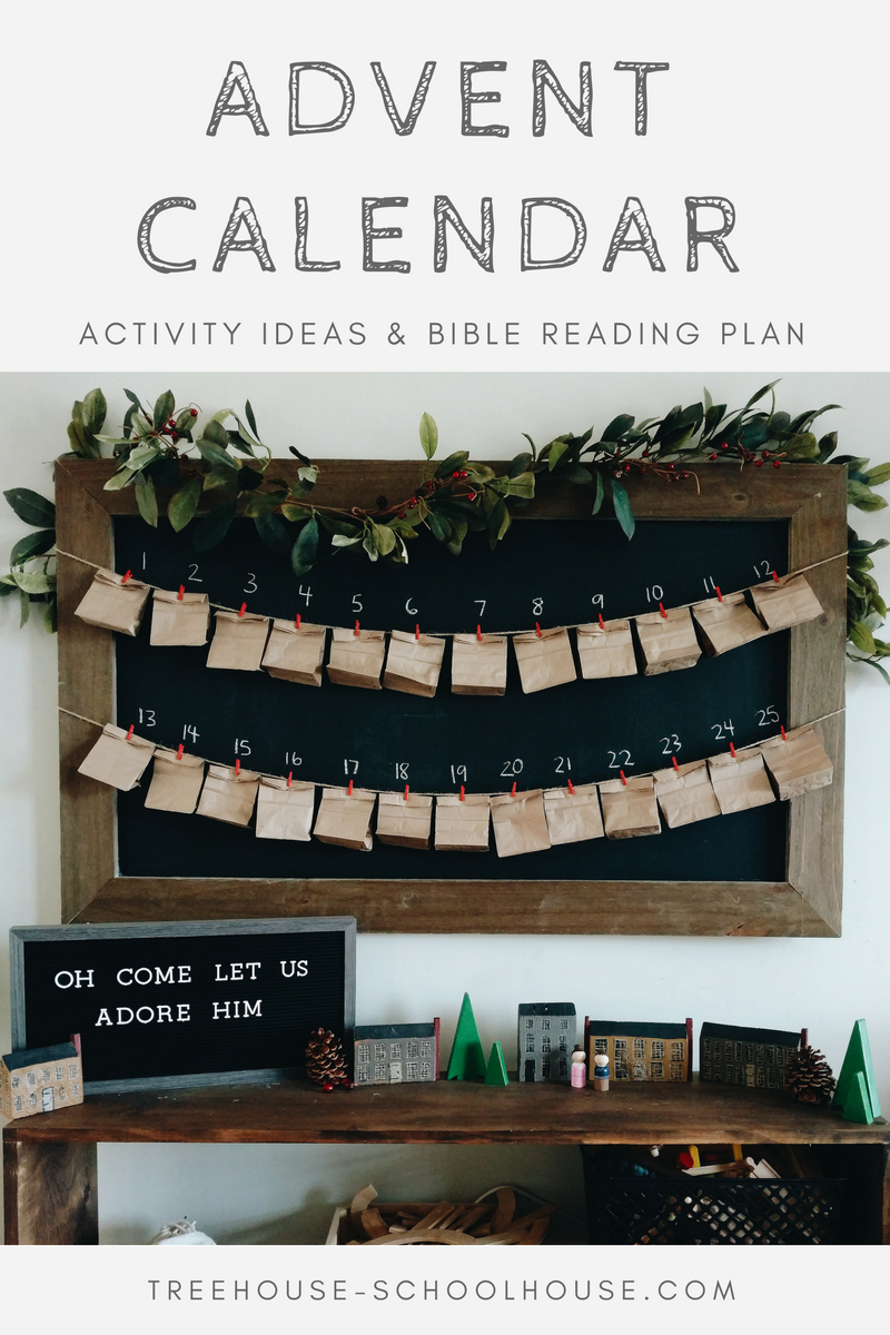 Advent Calendar Activity Ideas & Bible Reading Plan