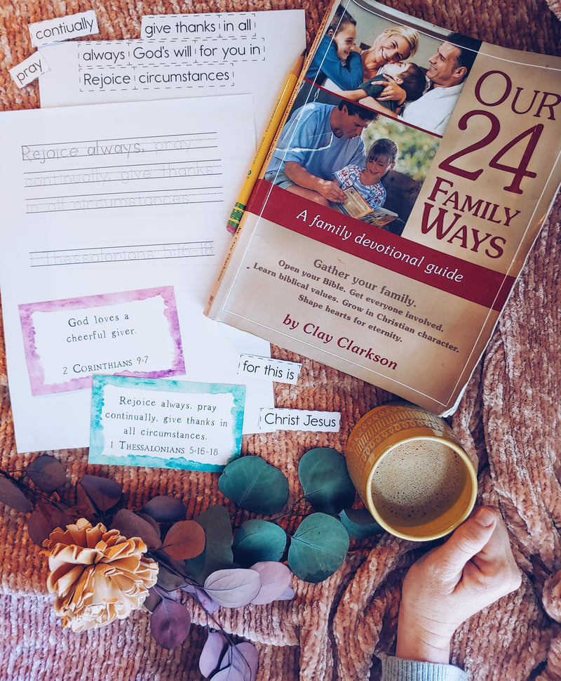 Our 24 Family Ways Scripture Memorization Set