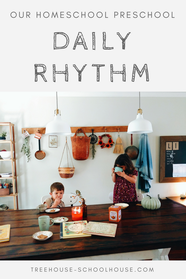 homeschool preschool daily rhythm