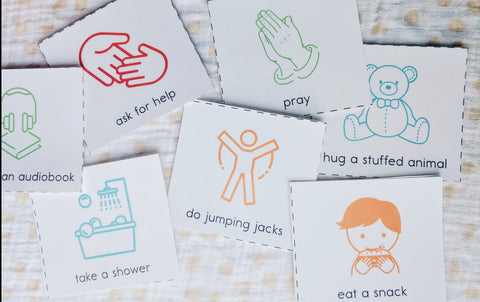 Kids Calm Down Cards