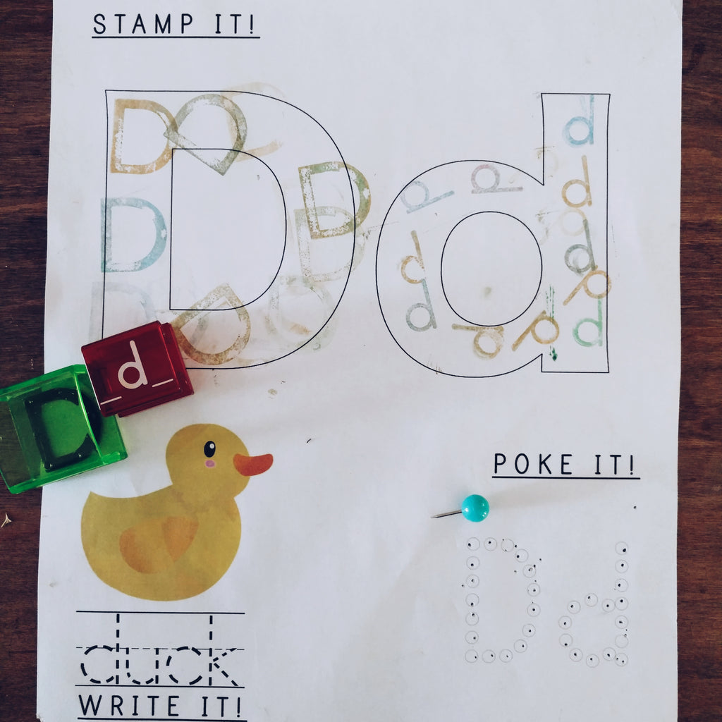 Stamp Poke Write Letter D Simply Learning