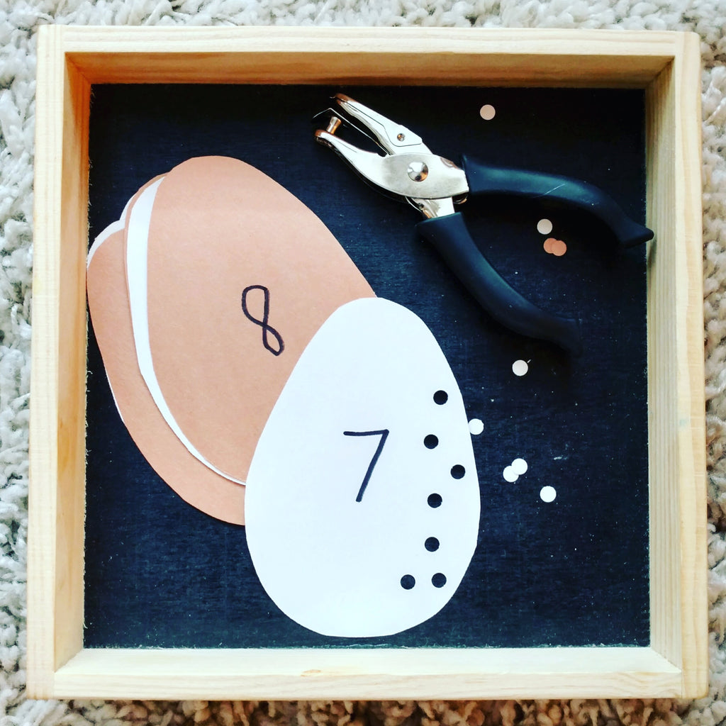 hole punch counting tot tray