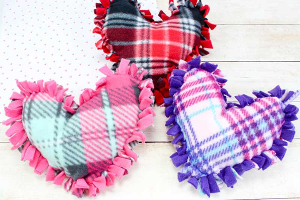 No Sew Heart Pillow Valentine