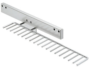 Tie rack, extending, for 17 ties- dimensions (W x D x H): 130 x 540 x 90 mm