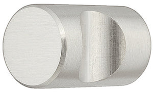 Furniture knob, stainless steel, cylindrical,