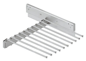 Trouser rack, extending, for 10 pairs of trousers