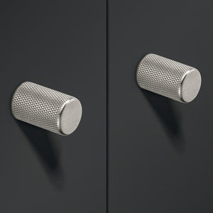 Furniture knob, Aluminium, Ø 17 mm Matt black