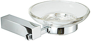 Soap dish, chrome plated polished, square series