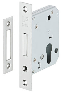 Mortise deadlock, for hinged doors, Startec, profile cylinder