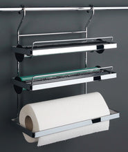 Load image into Gallery viewer, Kitchen roll holder, Steel railing system 3 tiers