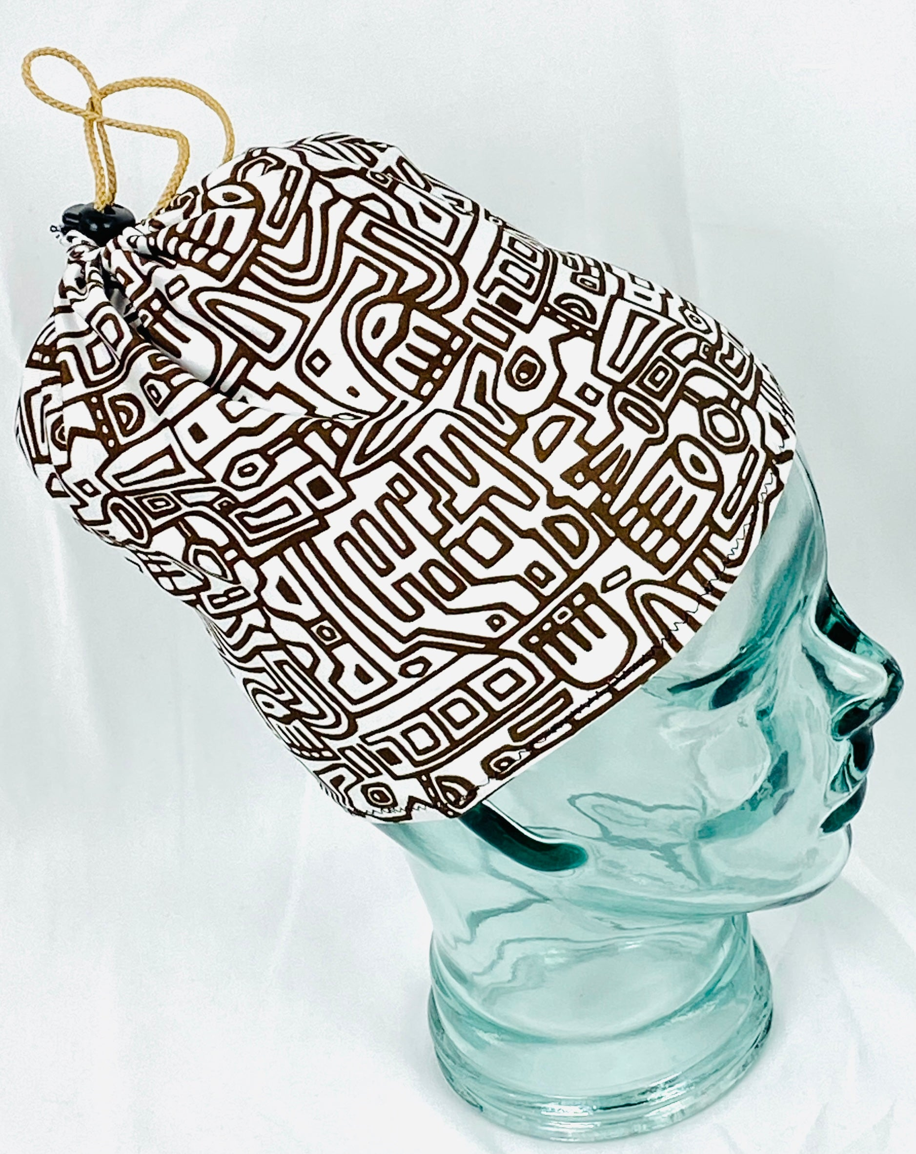 Stretchy headcovering Brown Maze