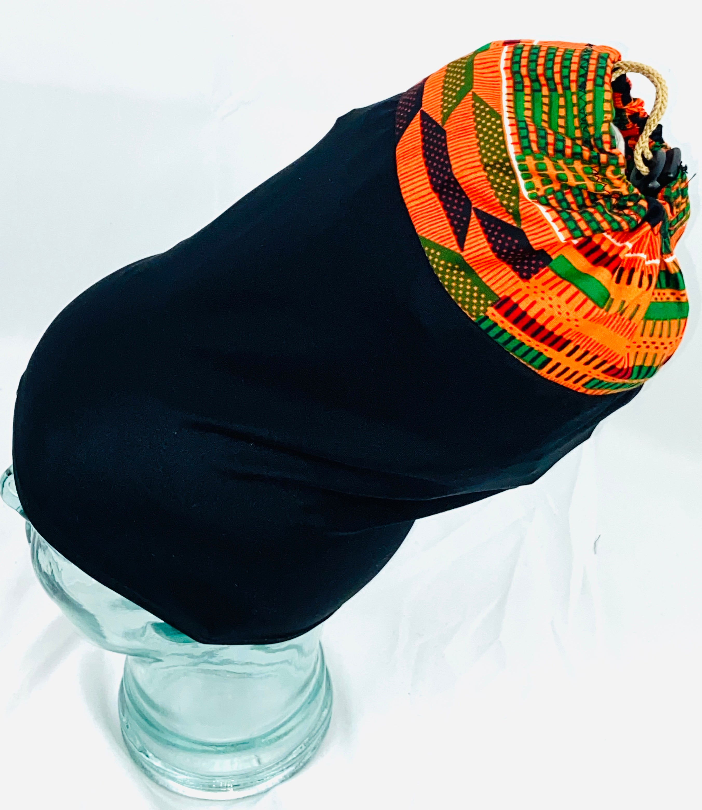 Stretchy head covering Original Kente Tophat