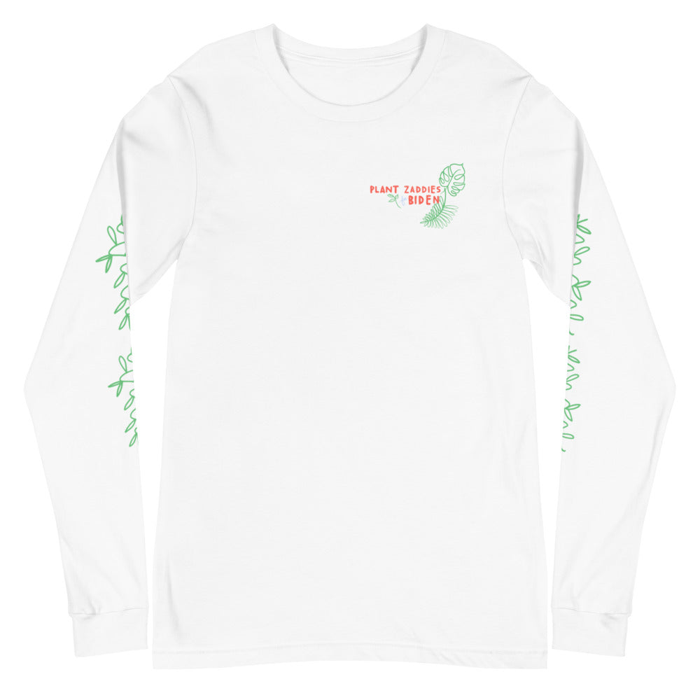 Plant Zaddies for Biden Long Sleeve Tee