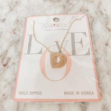 Load image into Gallery viewer, Bubble Initial Letter Necklace