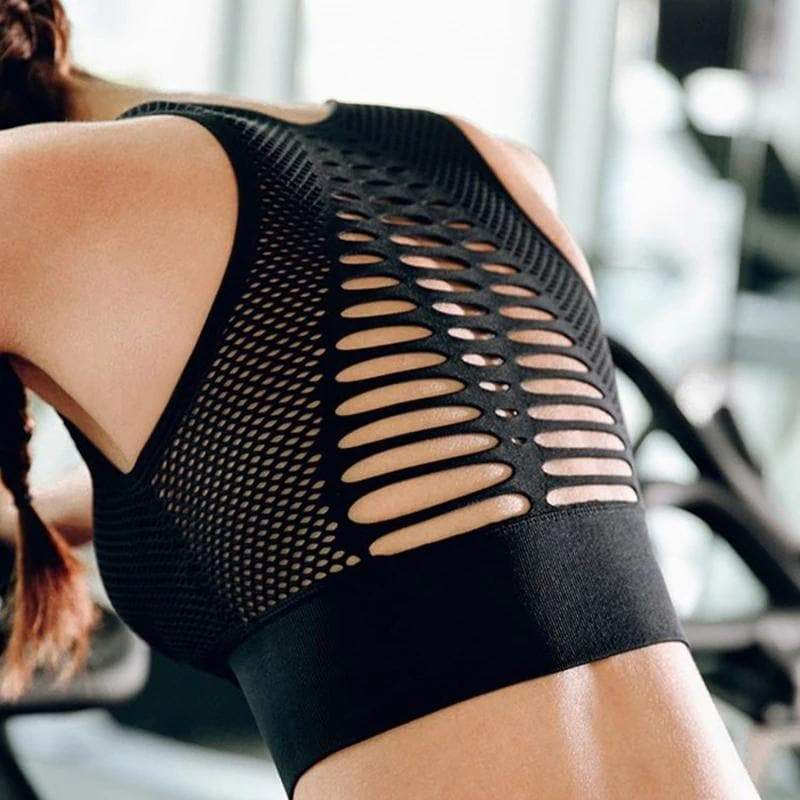 Sara: Cut-Out Racer-Back Seamless Sports Bra by glowyoga | product-type.
