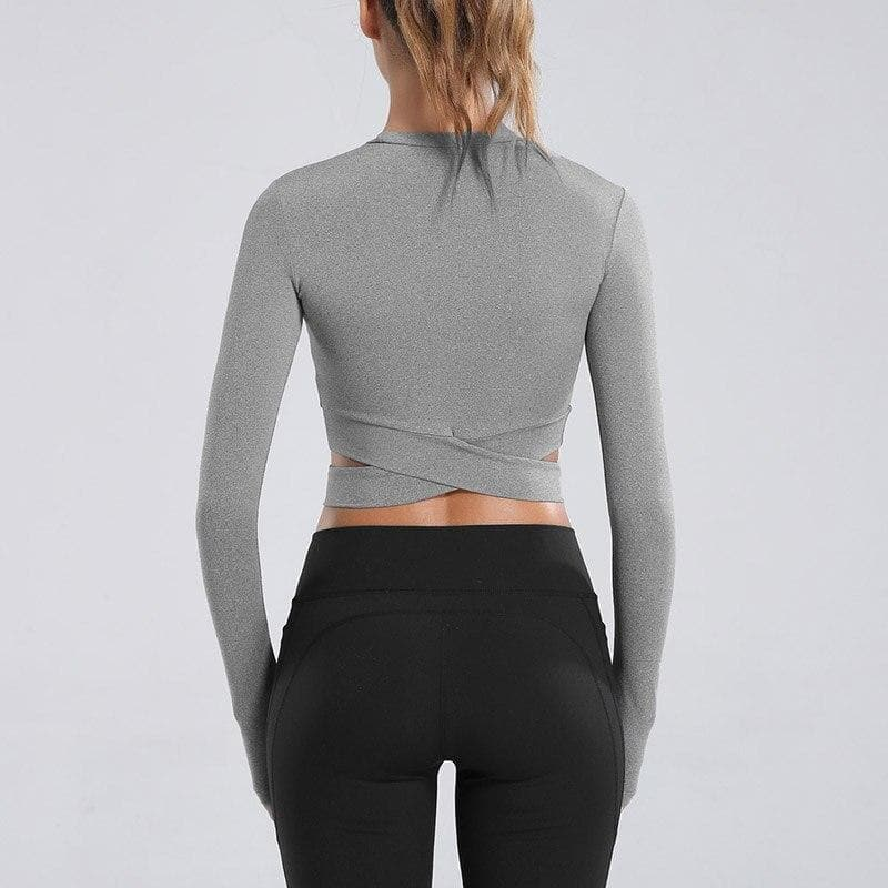 Angelica: Exposed Navel Fitness Crop Top by glowyoga | product-type.