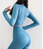 Load image into Gallery viewer, Zoey: Vented Long Sleeve Crop Top by glowyoga | product-type.