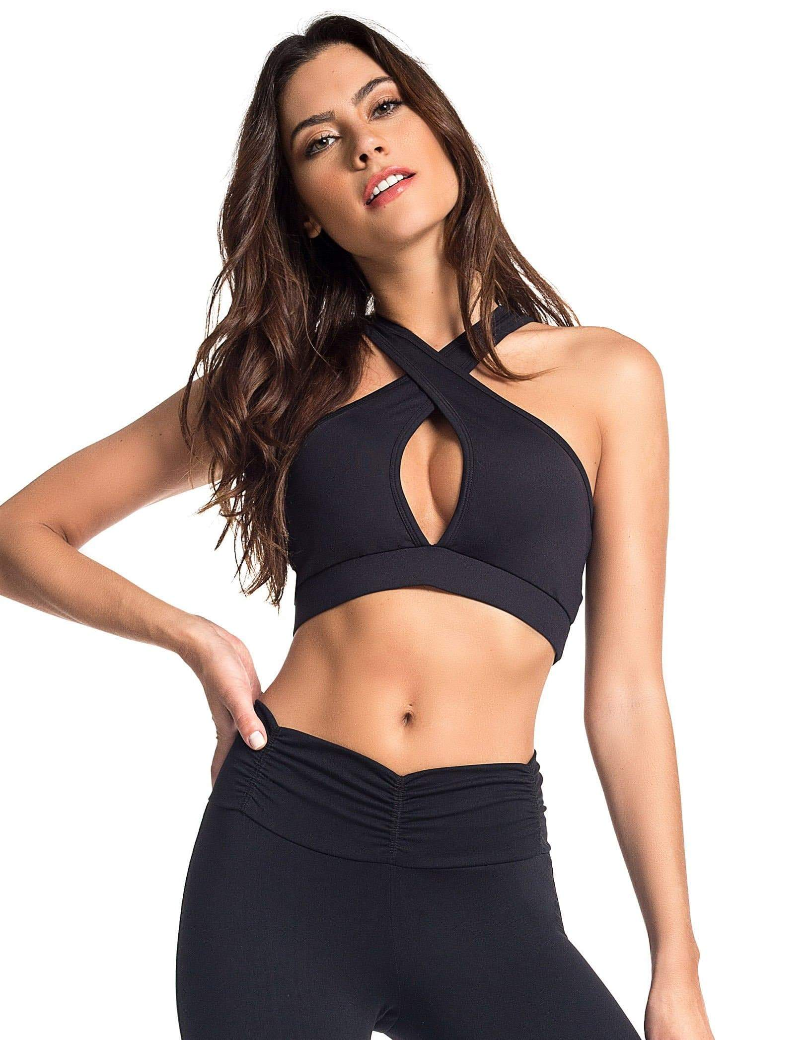 Willa: Mid-Split Sports Bra | Roga Yoga | Athleisure Sports Bra