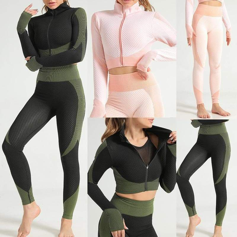 Shelly: Seamless Tracksuit Separates by glowyoga | product-type.