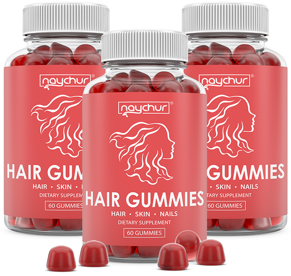 Hair Growth Vitamins Biotin Gummies - Hair Skin And Nails Vitamins For Faster Hair Growth - Hair Loss Treatments Care Thickening Products For Women Men - Thinning Hair Beard Regrowth Supplement Gummy