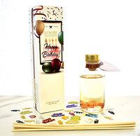 LOVSPA Birthday Reed Diffuser Gift Set - Chocolate Layer Cake Scented Oil and Reed Sticks Room Scent