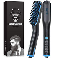 Beard Straightener for Men, Heated Beard Straightening comb Fast Heating Anti-Scald Beard Comb, Beard Hair Straightener Brush for Men, Dual Voltage Portable Beard Straightening Brush for Travel,Gift