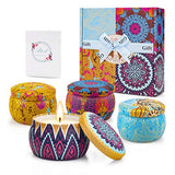 Scented Candles Set for Women Gifts on Birthday, Fragrant Soy Candles with Cute Packaging and Pleasant Smell, 4×4.4OZ