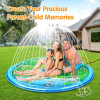 "PEFECEVE Splash Pad for Kids, 68"" Outdoor Summer Splash Mat for Toddlers, Babies, and 1-12 Years Old Boys & Girls, Wading Splash & Sprinkler Water Toys for Fun Games, Party, and Play"