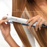 Remington 8510 Anti Frizz Therapy Hair Straightener, 1 inch Ceramic Flat Iron with Digital Controls, White