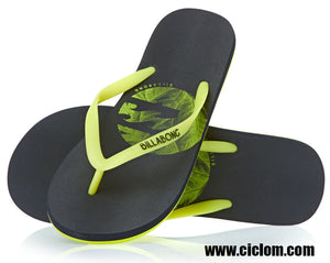 Chanclas Billabong Cleanics black/lime