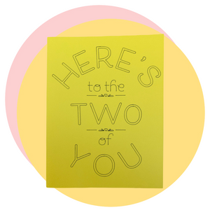 Two of you card