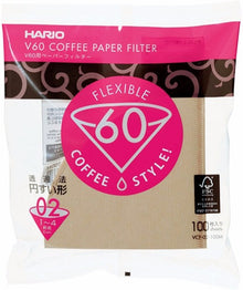 Hario V60 02 Filter (100pcs),  Natural (dripper 01 & 02 compatible), Made in Japan