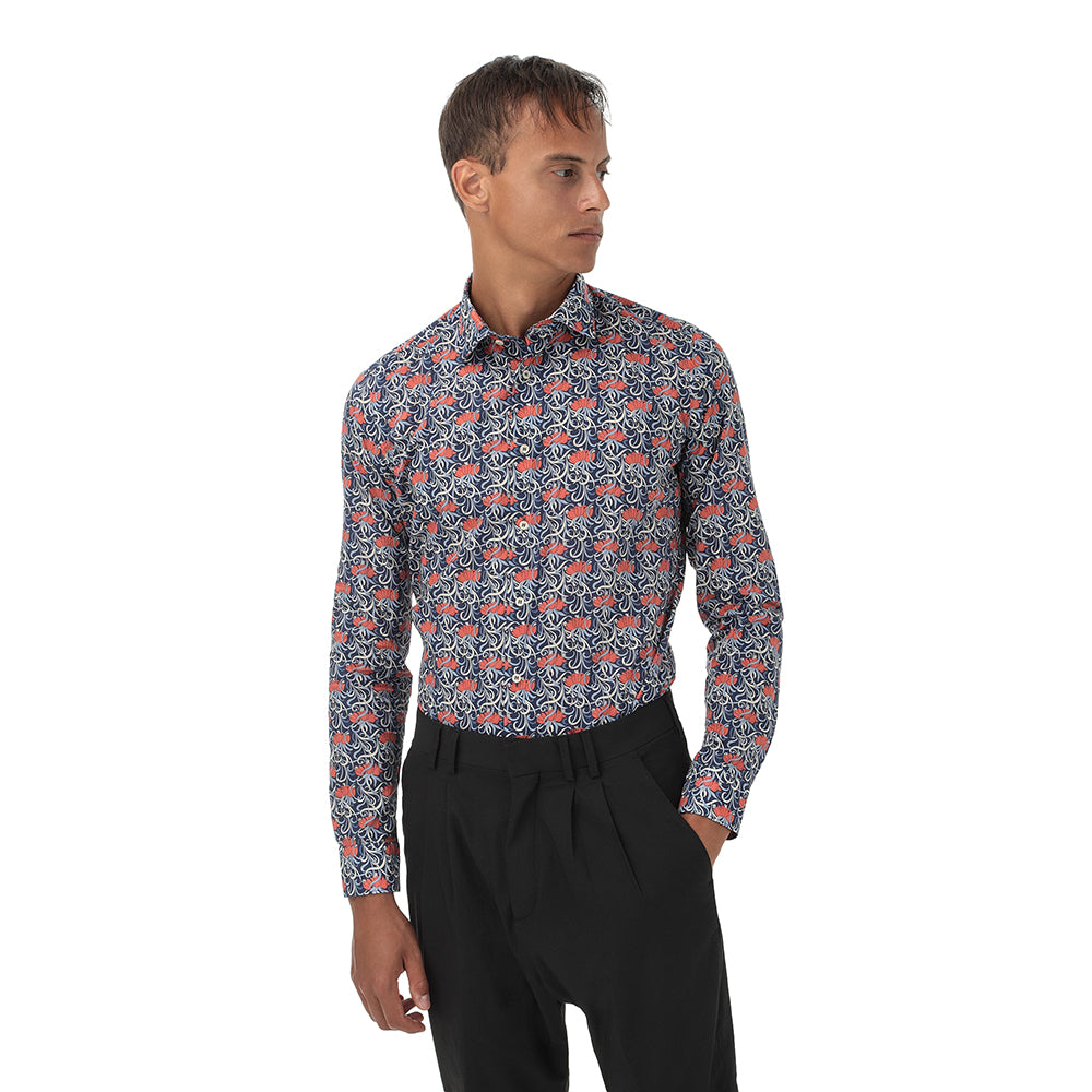 Camicia uomo fantasia slim fit