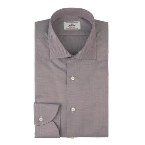 Camicia uomo business in cotone giza microfantasia