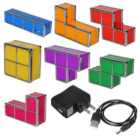 Tetris Stackable Desk Lamp Night Light - Club Topnotch
