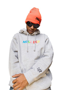 """Nullboy"" Hoodie - Heather grey"