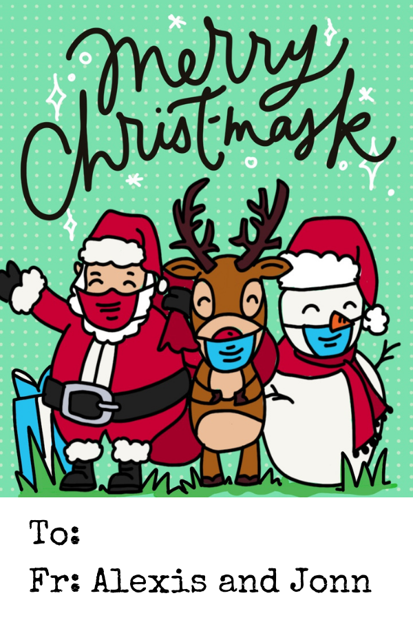 Merry Christmask Gift Tag