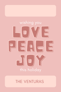 Love Peace Joy Rose Gift Tag