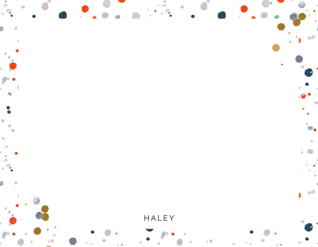 Confetti Party Dots Notecards