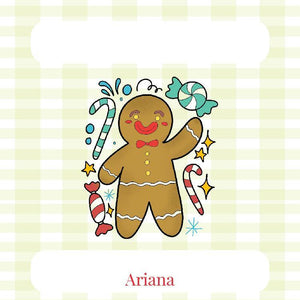Colored Gingerbread Man Gift Tag
