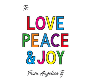 Love, Peace, Joy Gift Tag