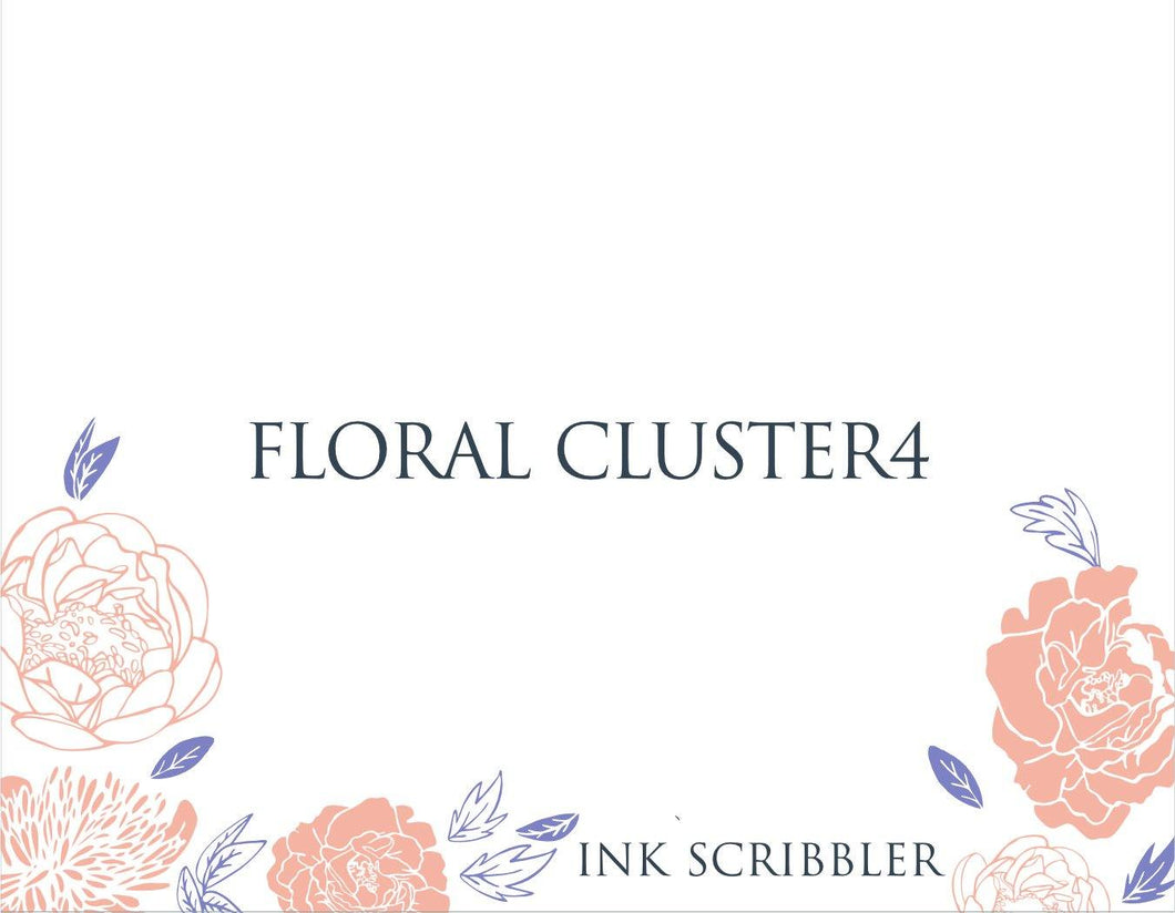FloralCluster4 Notecards