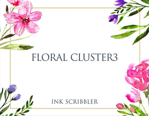FloralCluster3 Notecards
