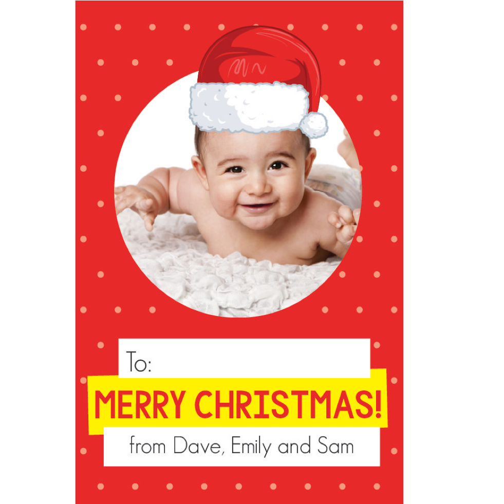 Santa Hat Red Gift Tag