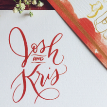 Load image into Gallery viewer, Wedding Logo - ink scribbler