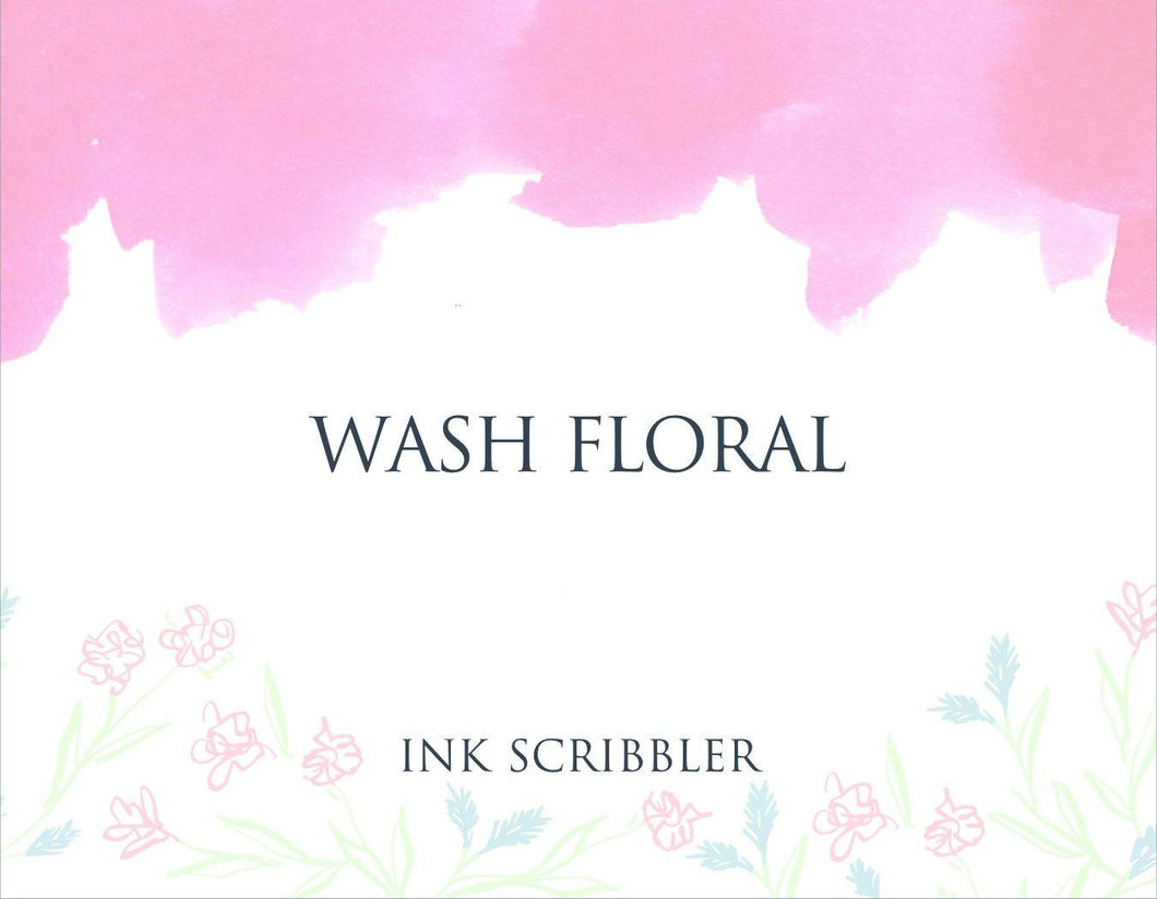 Wash Floral Notecards
