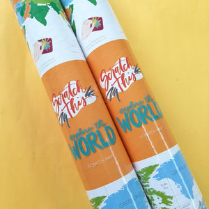 World Scratch Map - ink scribbler