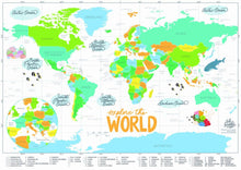 Load image into Gallery viewer, World Scratch Map - ink scribbler