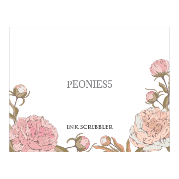 Peonies5 Notecards